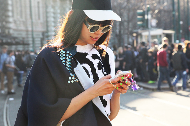 la modella mafia Milan fashion week street style via style