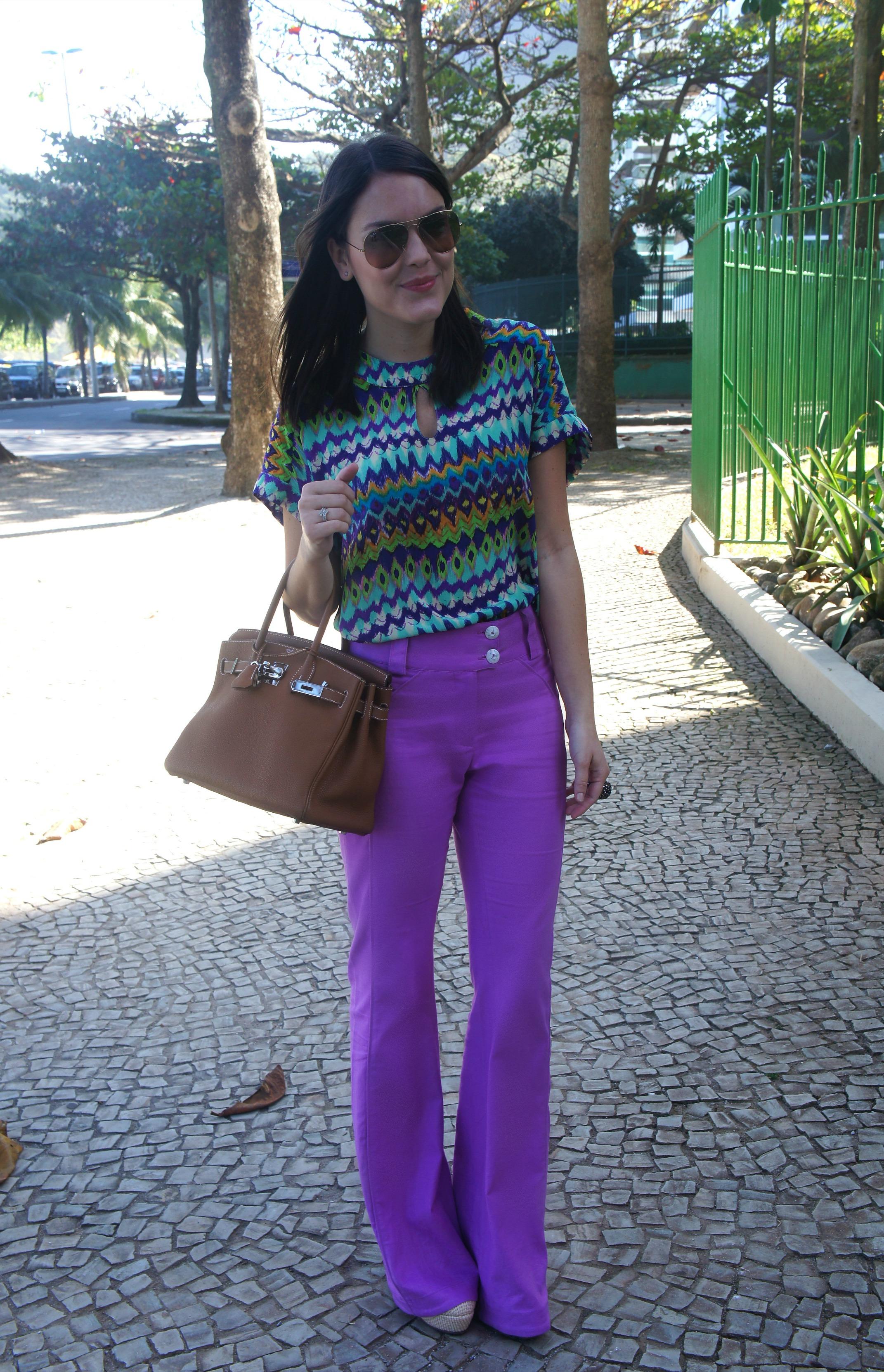 Look-do-dia-Mixed-Calça-lilás-Look-du-jour-Look-of-the-day-Blog-da-Lari-Duarte-.com-Estilo-Blogs-cariocas-Óculos-Rayban-Aviator