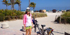 Andando de bike em Miami