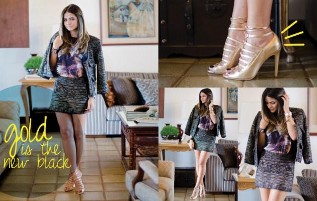 Olha a blogueira Thássia Naves usando a sandália que será sorteada