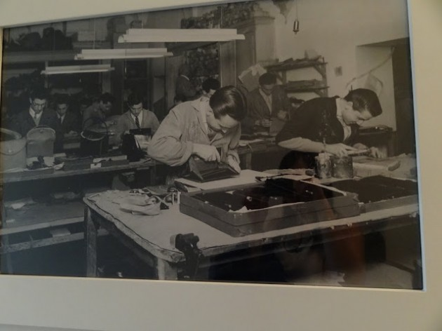 Foto que tirei no Museu da Gucci. Primeiro atelier da marca