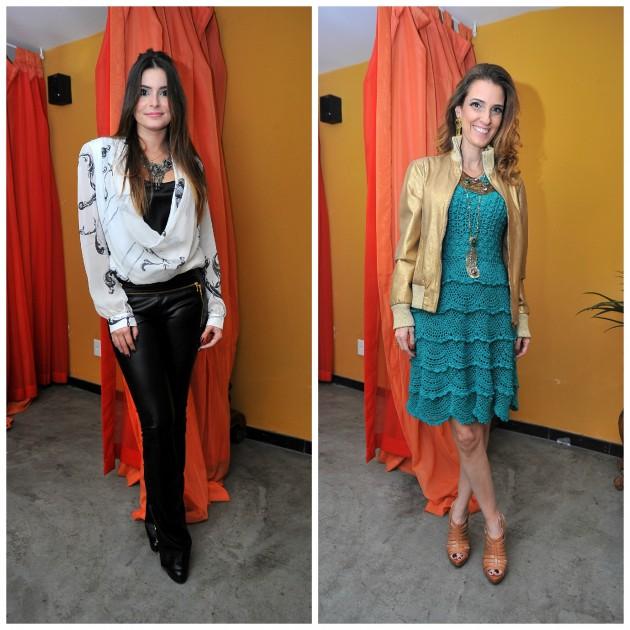 Camilla Marins e Bebel Schmidt com looks desfilados