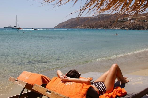 Praticando o que mais fiz na Grécia: pegar sol rs