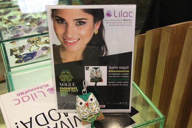 Chaveiro fofo inspirado na mascote do evento da Lilac. Era só seguir a marca no IG e postar uma foto que ganhava