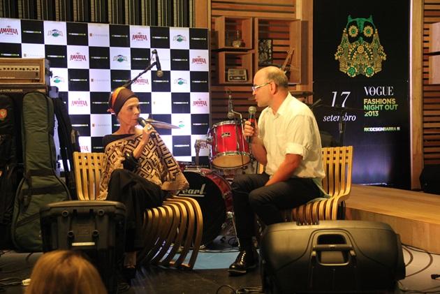 Bate papo que rolou do Giovanni Frasson (diretor de moda da Vogue) com Cristina Franco (jornalista e consultora de moda)