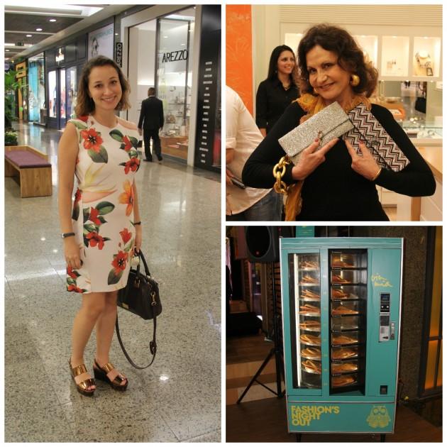 Juba, assessora gravidinha linda, atriz Rosa Maria Murtinho, e máquina de rasteiras da Via Mia