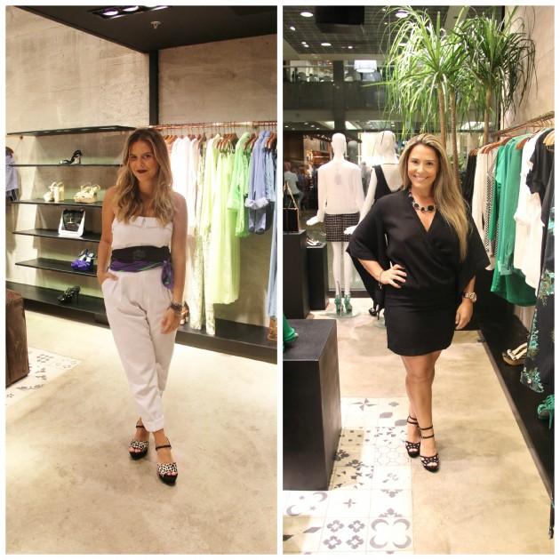 Nathalia Medeiros com lenço A.Brand, e a blogger Camy Filgueiras