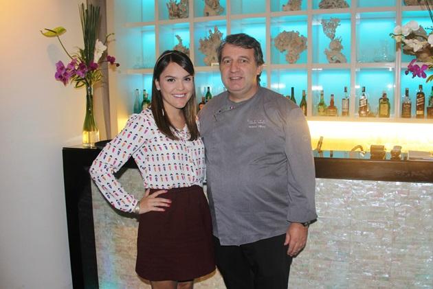 Eu com o chef Roland Villard, virei fã!