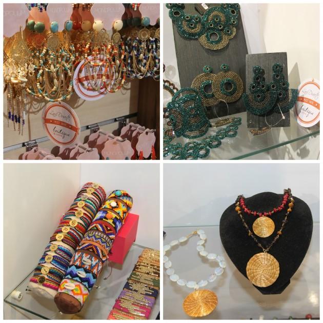 Maxi brincos Monopolium,  o trabalho super original da Moncher, pulseiras de signo Ame Bijoux, e trabalho maravilhoso de capim dourado da MBex