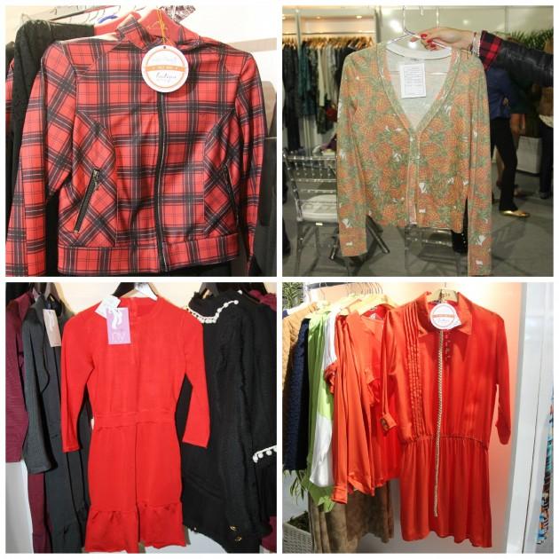 O quadriculado da Lala, casaquinho de abacaxi fofo da Tricot Store, vermelhos poderosos da By NV e da DASH
