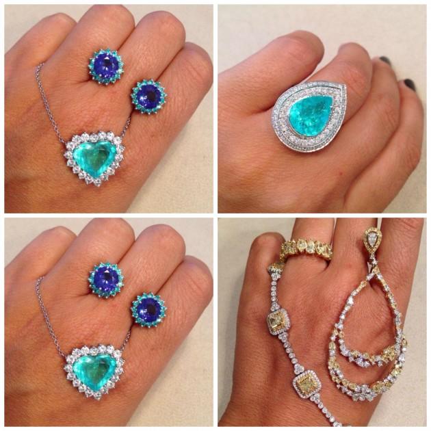 Algumas das joias capotantes que estarão a venda