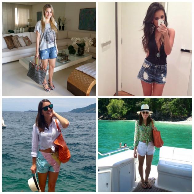 E mais looks reais: as bloggers Rafaela Melo e Paulinha Tawil, e duas produções minhas
