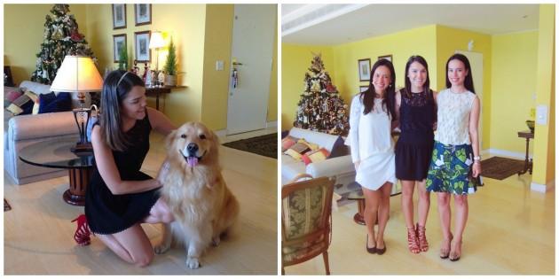 Com o Otto, cão da família, e com as irmãs Ana Carolina e Maria Claudia Vilela #amo