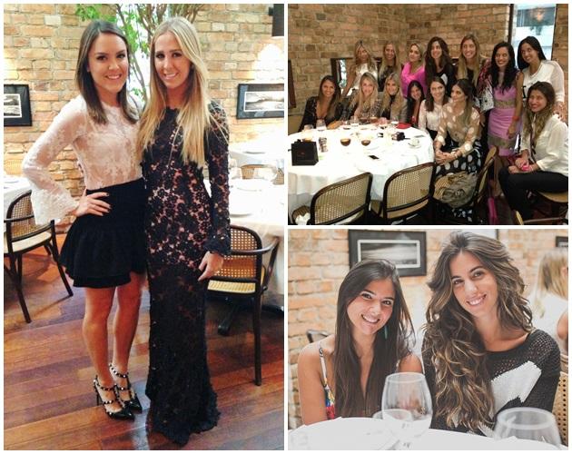 Eu com a designer da Fabulous Paula Aziz, meninas no almoço, Duda Camarão e Luiza Sobral