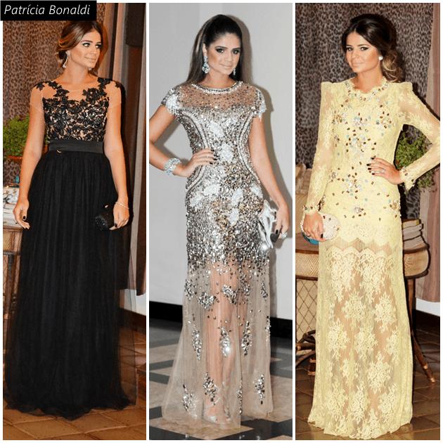A top blogger Thássia Naves com 3 vestidos de Patrícia Bonaldi