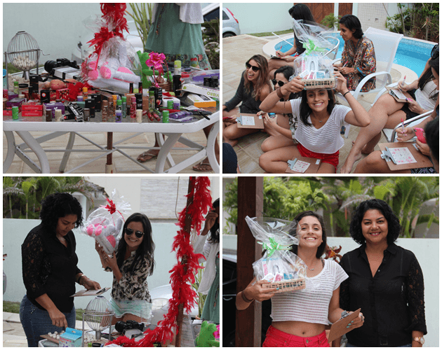 "Momentos do workshop da Sexyshop! No final rola um ""bingo sensual"" hahaha"
