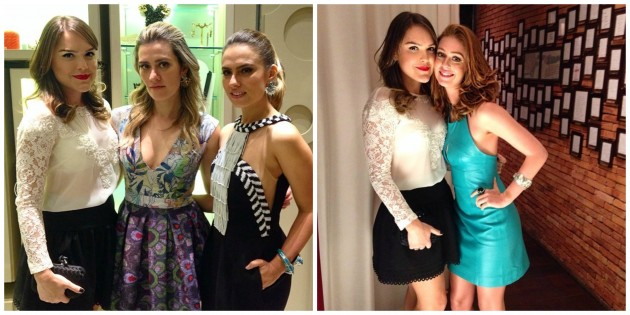 Entre Claudia Arbex e Patrícia Bonaldi, e com a linda Marina Ruy Barbosa