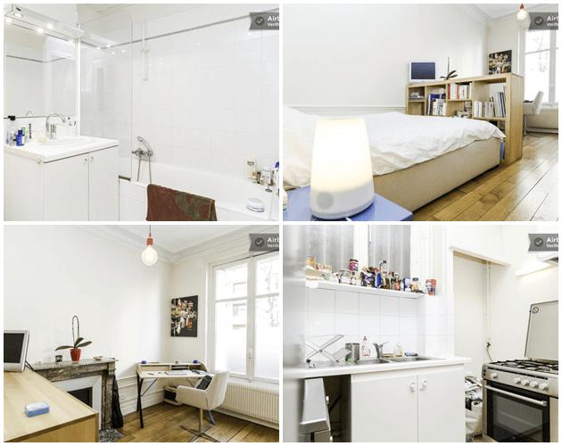 Fotos do banheiro, quarto e cozinha. Já baguncei muito, achei melhor colocar as do site rs