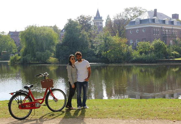 Com Pedro no Vondelpark