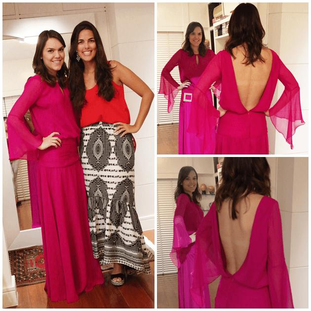 Na última prova do vestido com a Dani Lanna