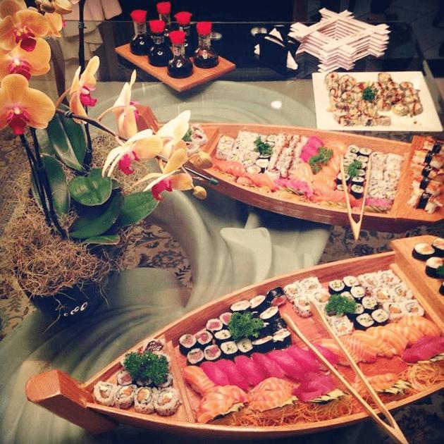 Os barcos do Sushi Carioca