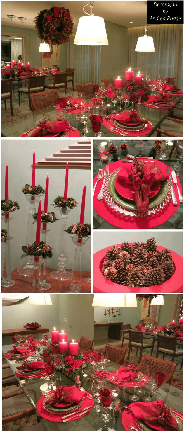 Decoração de Natal da blogger Andrea Rudge que tenho salva, um luxo!