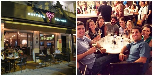 Restaurante Bottega Del Vino, e depois com os casais no Usina 47