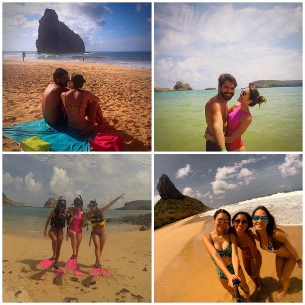 Praias: Cacimba do Padre, Sueste e Conceição respectivamente.