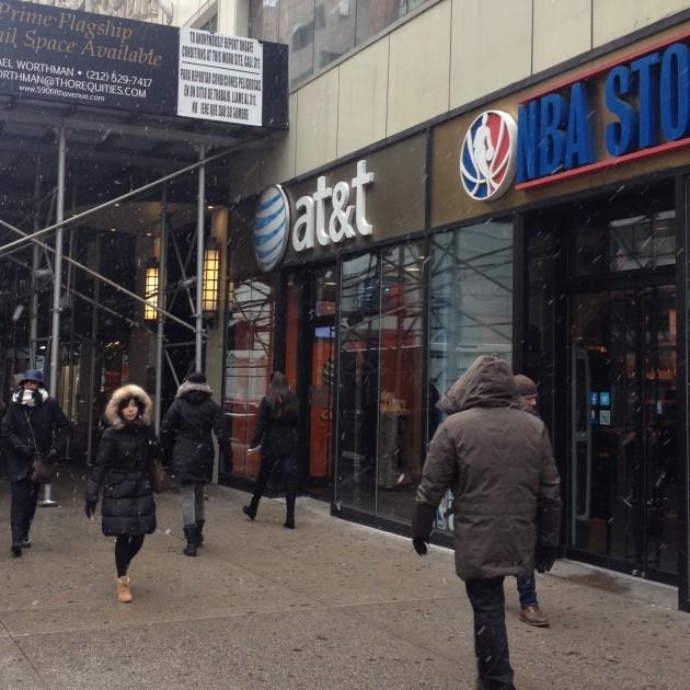 Entrada da AT&T que eu fui na 5 avenue
