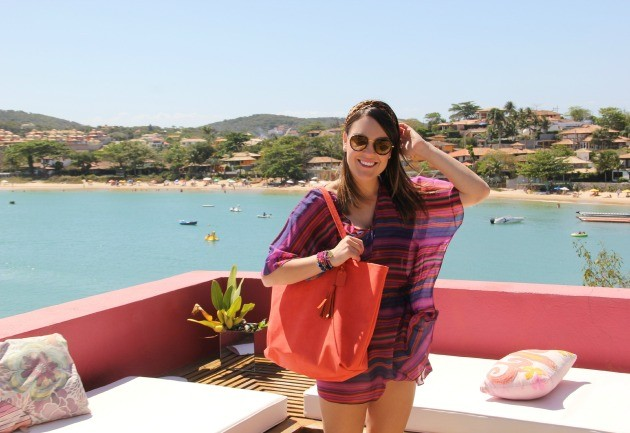 Com minha summer bag em Búzios