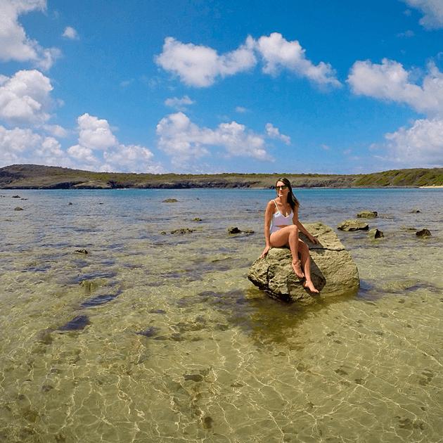 Na praia do Sueste na pedra para ver os filhotes #medrosa rs