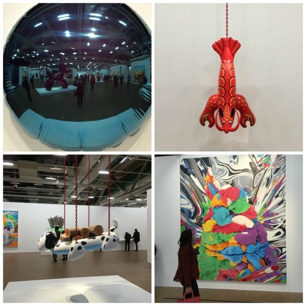 Registros meus da exposição Jeff Koons, la rétrospective