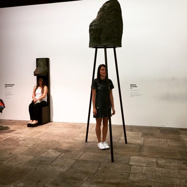 Durante a exposição Terra Comunal
