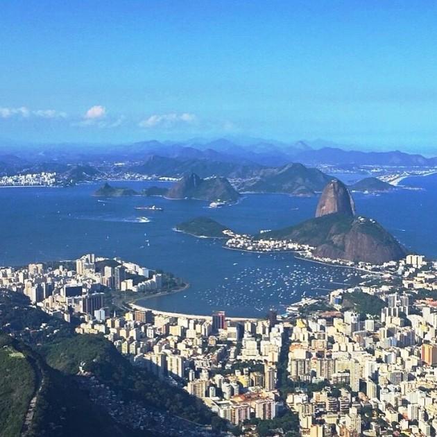 Vista do meu Rio do avião