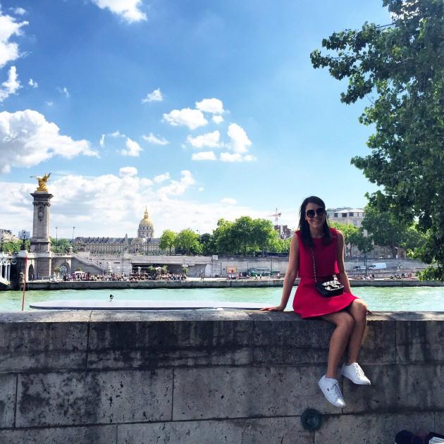 Foto tirada no último sábado, dia lindo de calor em Paris