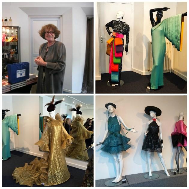 Madame Renée Tapounier que comanda o museu e foi a guia da visita guiada, e mais looks