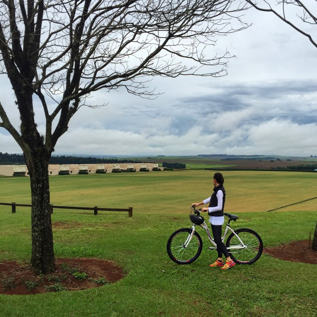 Pausa no passeio de bike para ver o visual