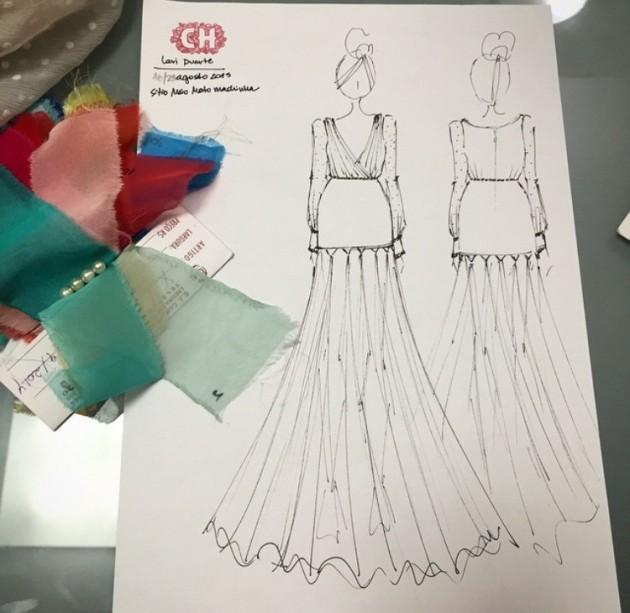 Croqui do meu vestido