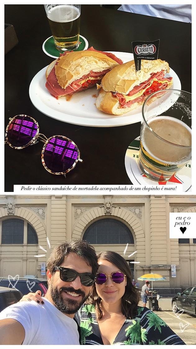 Onde comer no mercado municipal de SP mercadão paulista pão com mortadela sanduiche Hocca o melhor dicas tudo sobre sampa blog Lari duarte